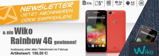 Wiko Rainbow 4G Smartphone Gewinnspiel