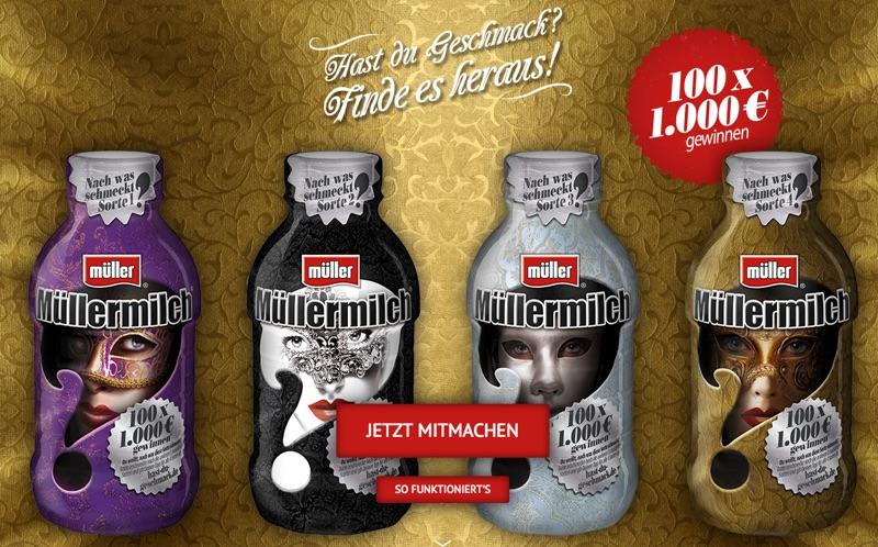 Gewinnspiel Müllermilch