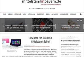 mittelstand in Bayern gewinnspiel terra tablet gewinnen