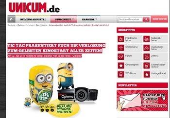 unicum gewinnspiel HD Ready Heimkinoprojektor