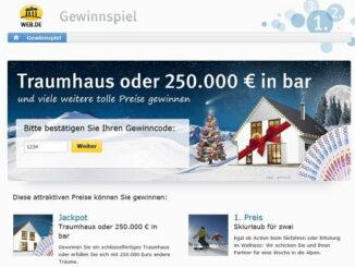 Weihnachtsgewinnspiel web.de