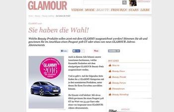 Glamour gewinnspiel auto gewinnen peugeot
