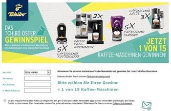 tchibo Oster gewinnspiel 2016 kaffeemaschinen