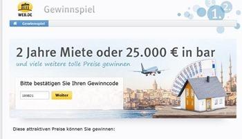 web.de miete gewinnspiel
