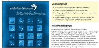 pocketnavigation winterkalender gewinnspiel 2017