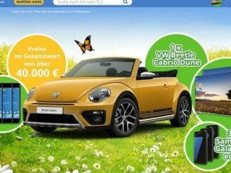 wetter.com gewinnspiel vw beetle cabrio 2017