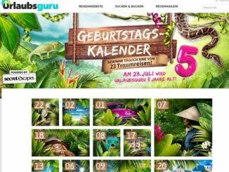 Urlaubsguru Geburtstags Kalender Gewinnspiel 2017