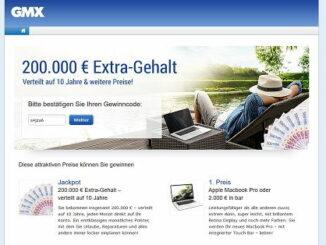 GMX Gewinnspiel 200.000 Euro 2017