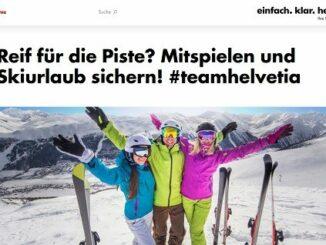 Skiurlaub Gewinnspiel Helvetia 3 Urlaubsgutschein je 1.000 Euro
